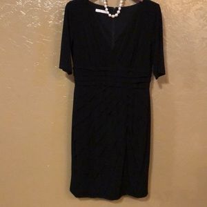 London Times black dress size 10. Flattering